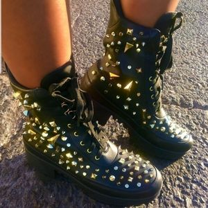 Shoes - Spyky Combat Boots